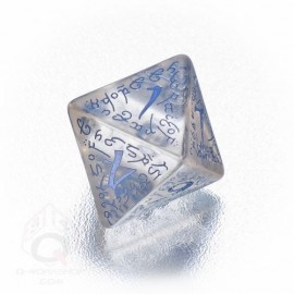 D8 Elvish Translucent & blue Die (1)