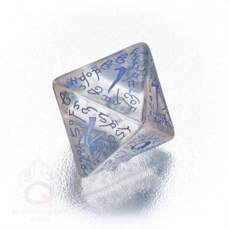 D8 Elvish Translucent & blue Die (1)
