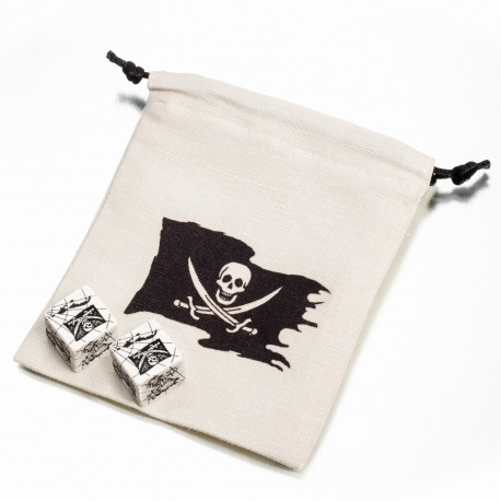 Pirate Dice & Bag (2+1)