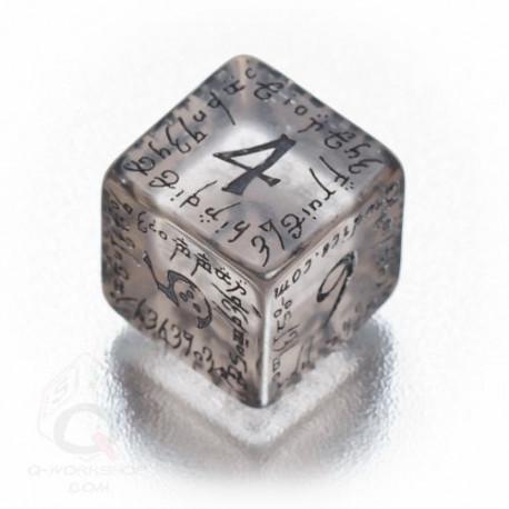 D6 Elvish Translucent & black Die (1)