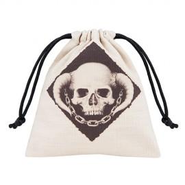 Skully Beige and black Dice Bag
