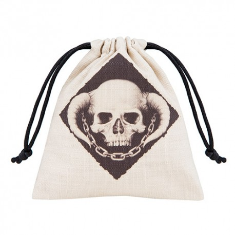 Skully Beige and black Dice Bag