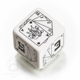 D6 Savage Worlds White & black Die (1)