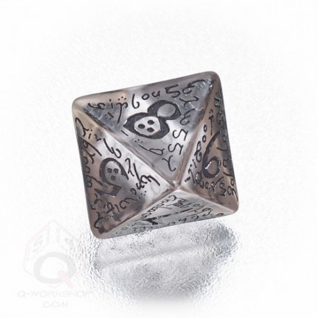 D8 Elvish Translucent & black Die (1)