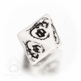 D8 Dragons White & black Die (1)