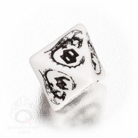 D8 Dragons White & black Die (1)