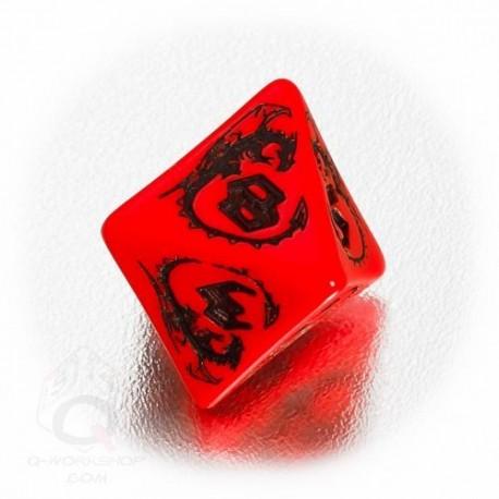 D8 Dragons Red & black Die (1)