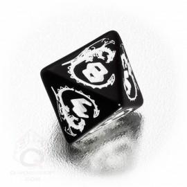 D8 Dragons Black & white Die (1)