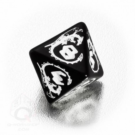 D8 Dragons Black & white Die (1)