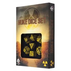 Nuke Revised Black & glow-in-the-dark Dice Set (7)