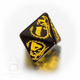 D8 Dragons Black & yellow Die (1)