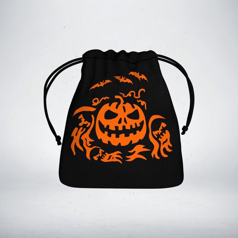 halloween black orange d6 dice dice bag - Black And Orange Halloween