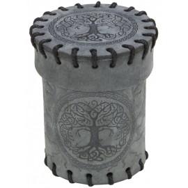 Elvish Graphite Suede Dice Cup