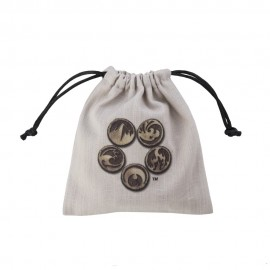 Forest Beige & black Dice Pouch