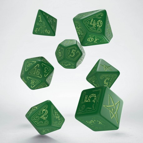 Call of Cthulhu Green & glow-in-the-dark Dice Set (7)