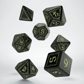 Runic Black & glow-in-the-dark Dice Set (7)
