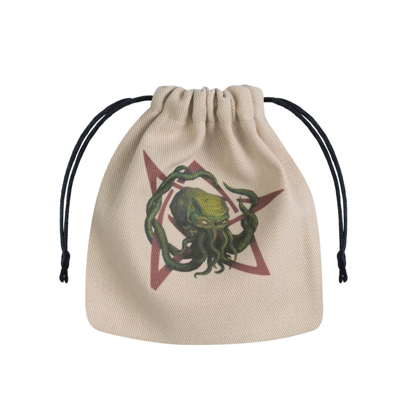 Call Of Cthulhu Beige Multicolor Dice Bag