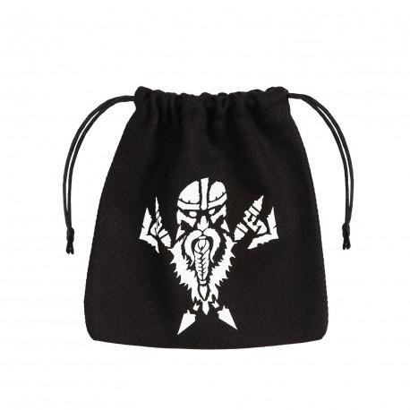 Dwarven Black & white Dice Bag