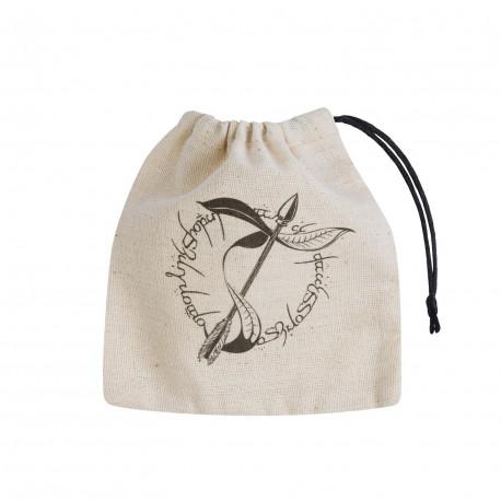 Elvish Beige & black Basic Dice Bag