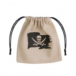 Pirate Beige & black Dice Bag
