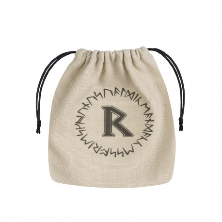 Runic Beige & black Dice Bag