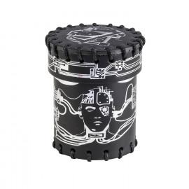 Kubek Cyberpunk Czarno-srebrny, skórzany
