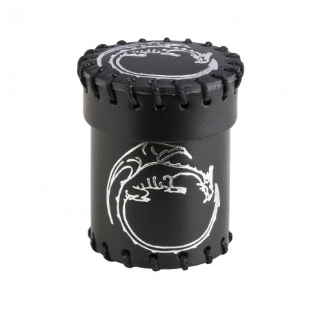 Dragon Black Leather Dice Cup