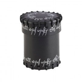 Elvish Black Leather Dice Cup