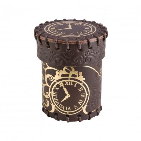 Kubek Steampunk Brązowo-złoty, skórzany