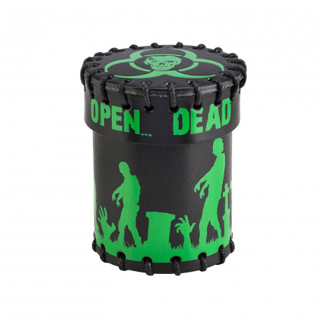 Zombie Black & green Leather Dice Cup