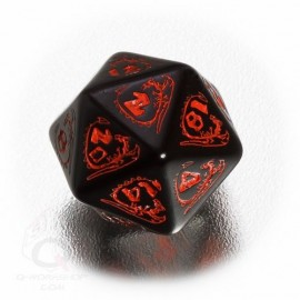D20 Dragons Black & red Die (1)