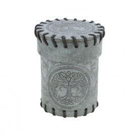 Forest Graphite Suede Dice Cup