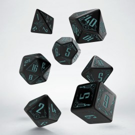 Galactic Black & blue Dice Set (7)