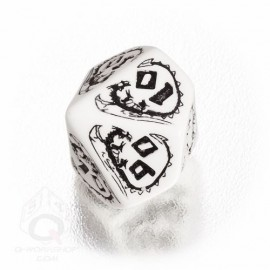 D100 Dragons White & black Die (1)