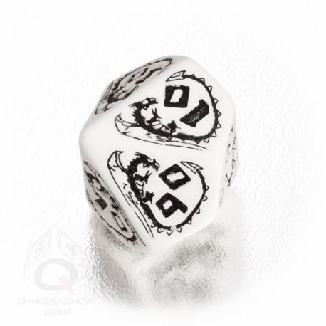 D100 Dragons White & black Die (1)
