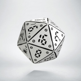 D20 Neuroshima White & black Die (1)