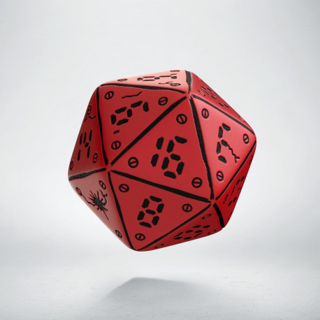 D20 Neuroshima Red & black Die (1)