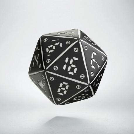D20 Neuroshima Black & white Die (1)