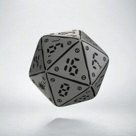D20 Neuroshima Gray & black Die (1)