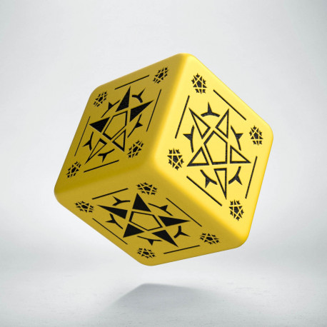 D6 Pentagram Yellow & black Die (1)
