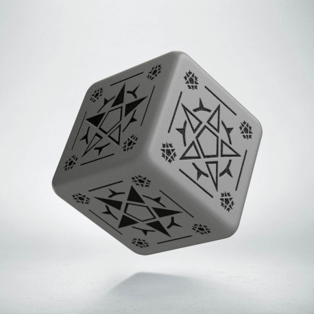 D6 Pentagram Gray & black Die (1)