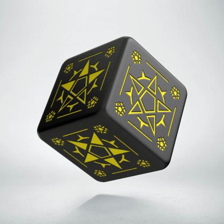 D6 Pentagram Black & yellow Die (1)