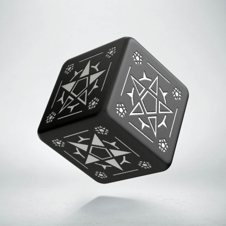 D6 Pentagram Black & white Die (1)