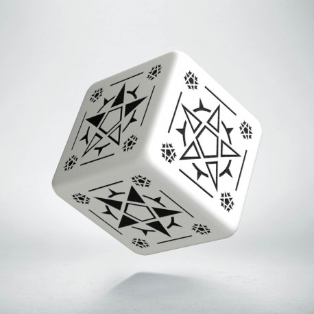 D6 Pentagram White & black Die (1)
