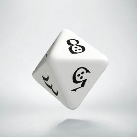 D8 Classic White & black Die (1)