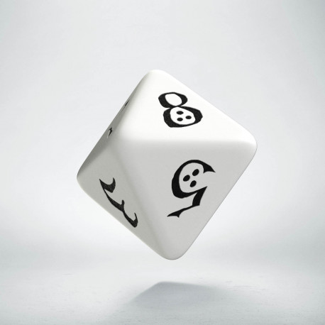 D8 Classic White & black Die