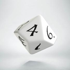 D10 Classic White & black Die (1)