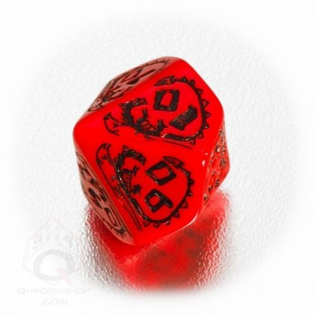 D100 Dragons Red & black Die (1)