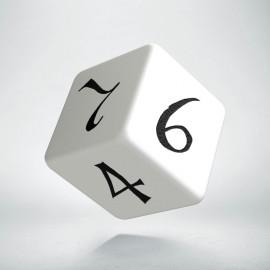 D6 Classic White & black Die (1)