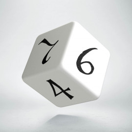D6 Classic White & black Die (1)